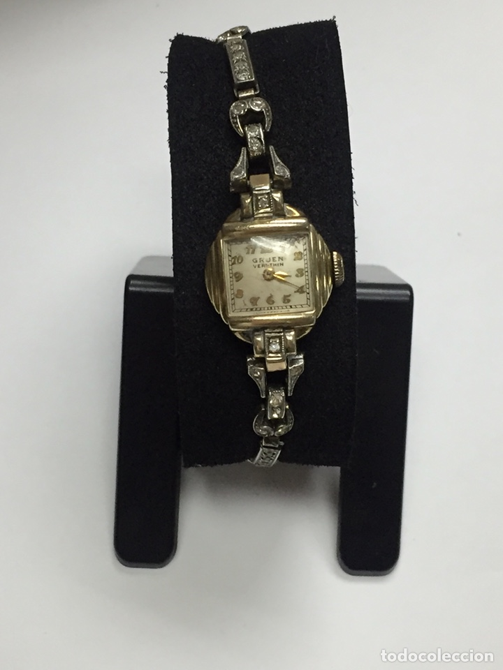 Relojes de pulsera: Reloj carga manual marca GRUEN VERITHIN EN FUNCIONAMIENTO - Foto 5 - 127977311