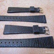 Relojes de pulsera: CORREAS PIEL DE LAGARTO PARA RELOJES ANTIGUO. Lote 128688070