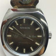 Relojes de pulsera: RELOJ ASEIKON DE LUXE CAJA DE ACERO VINTAGE PARA COLECCIONISTAS. Lote 128269474