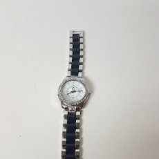 Relojes de pulsera: RELOJ ESFERA CON PIEDRAS GIORGIE ( PULSERA METAL BICOLOR ). Lote 128423847