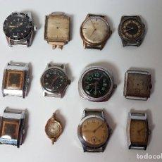 Relojes de pulsera: LOTE 12 RELOJES PARA PIEZAS SIN CORREAS, VÁRIAS MARCAS Y MODELOS. Lote 128437039