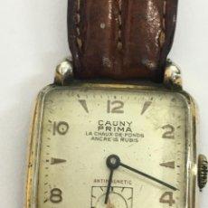 Relojes de pulsera: RELOJ CAUNY PRIMA,CRISTAL LUPA ESPECIAL,REPASADO POR RELOJERO EN BUEN FUNCIONAMIENTO. Lote 128647035