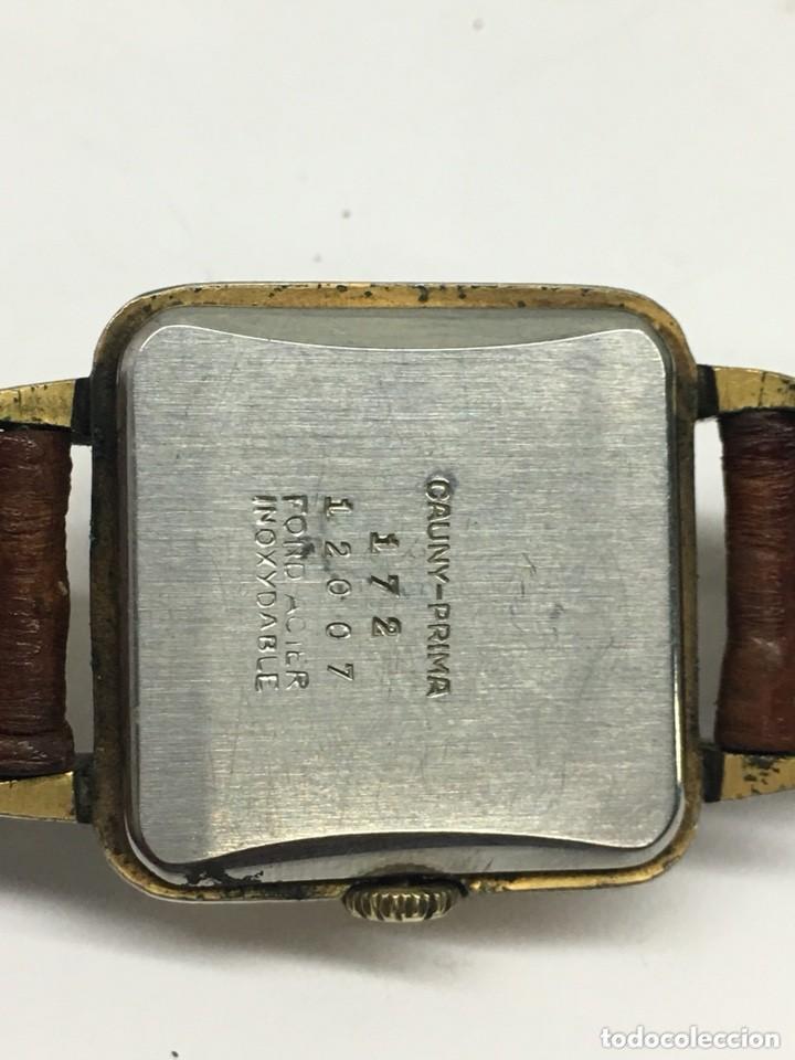 Relojes de pulsera: reloj cauny prima,cristal lupa especial,repasado por relojero en buen funcionamiento - Foto 5 - 128647035