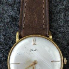 Relojes de pulsera: RELOJ DUWARD, 15 JEWELS, PLAQUÉ 10MICRAS, LA CHAUX DE FONDS. Lote 129069595