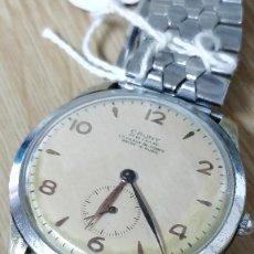 Relojes de pulsera: RELOJ CAUNY PRIMA LA CHAUX DE FONDS, 15 RUBÍS, ACERO INOXIDABLE.. Lote 129210575