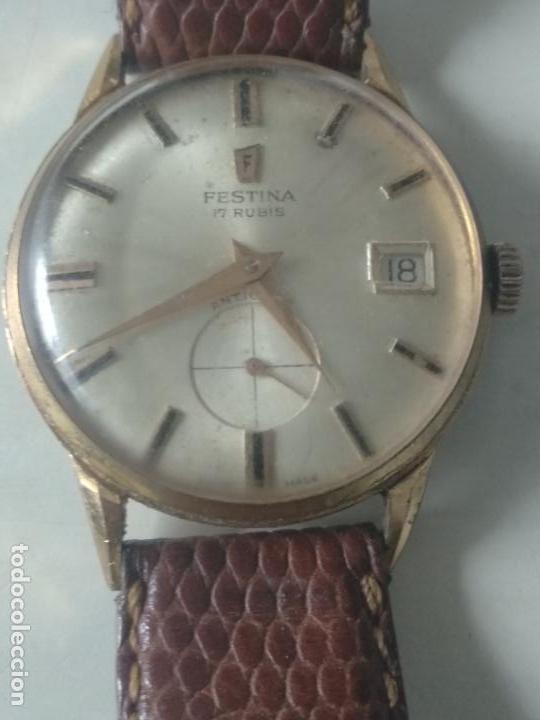 Relojes de pulsera: reloj festina de cadete 17 rubis antichoc fond acer inoxidable funciona en ver fotos - Foto 3 - 129368271