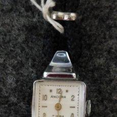 Relojes de pulsera: RELOJ PULSERA DE SEÑORA ANCORA, CARGA MANUAL, AÑOS 50,FUNCIONANDO MEDIDA CAJA 2 X 2 SIN ASAS.. Lote 36518605