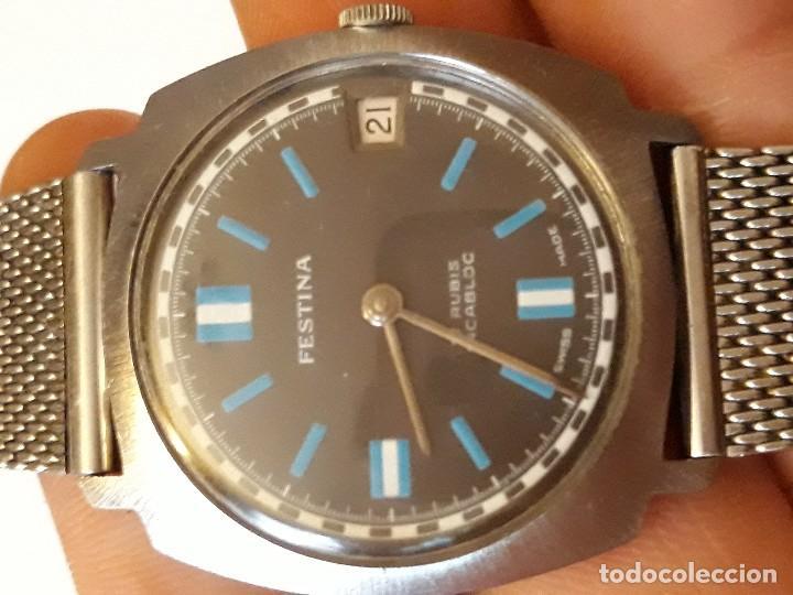 Relojes de pulsera: reloj de pulsera caballero carga manual,festina 17 rubis incabloc made in swisse, ver descripcion - Foto 3 - 129547891