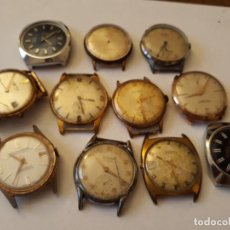Relojes de pulsera: LOTE DE 11 RELOJES PARA PIEZAS, MADE IN SWISSE, VER DESCRIPCION. Lote 129588727