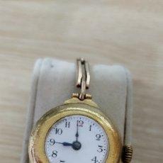 Relojes de pulsera: RELOJ ANTIGUO DE PULSERA, SEÑORA, EN PLAQUÉ DORADO CADENA ELÁSTICA. Lote 78914241