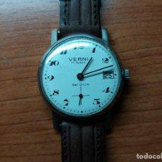 Relojes de pulsera: RELOJ VERNI, 30 MM SIN CONTAR CORONA, VINTAGE, DE CUERDA, FUNCIONANDO.. Lote 129969935