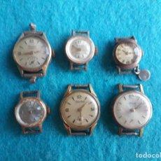 Relojes de pulsera: LOTE DE 6 RELOJES ANTIGUOS MECÁNICOS PARA DAMA. . Lote 129991463