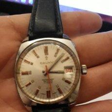 Relojes de pulsera: RELOJ DE PULSERA CABALLERO CARGA MANUAL , CAUNY WATERPROOF ANTICHOC 17 RUBIS. Lote 130012127