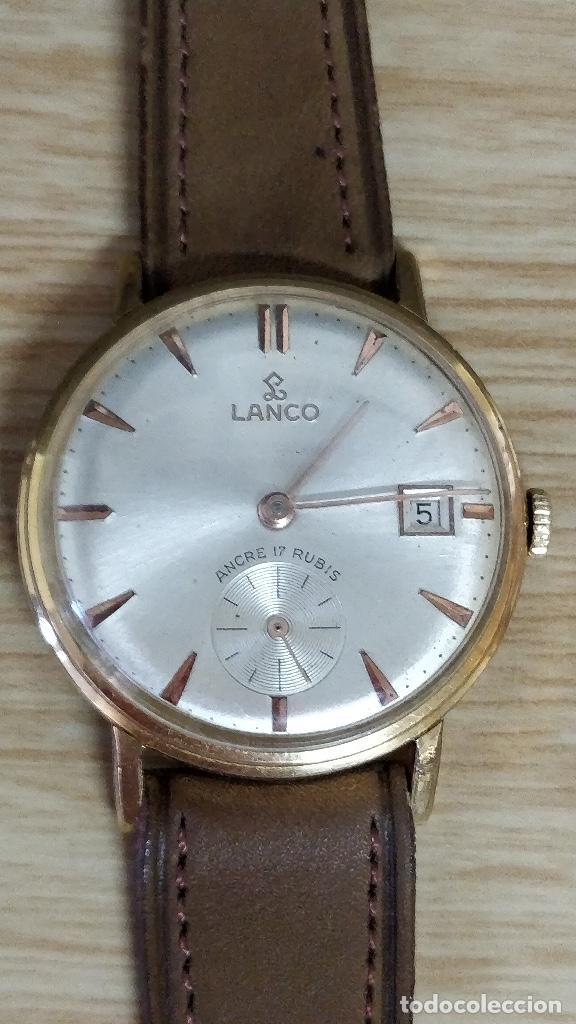 RELOJ LANCO, CARGA MANUAL 17 RUBÍS. (Relojes - Pulsera Carga Manual)