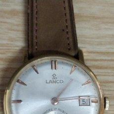 Relojes de pulsera: RELOJ LANCO, CARGA MANUAL 17 RUBÍS.. Lote 130239698