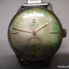 Relojes de pulsera: RELOJ LANCO 17 RUBIS ANCRE ANTIMAGNETIC NUMERO SERIE 631 MADE SUIZA. Lote 130598126
