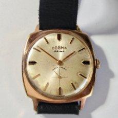 Relojes de pulsera: VINTAGE DOGMA PRIMA ANCRE 15 RUBIS SWISS MADE PLAQUÉ ORO,33X33 M/M.. Lote 130628234