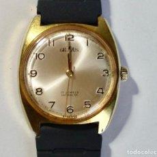 Relojes de pulsera: VINTAGE GRADUS, A CUERDA ,CAL.FHF 17 JEWELS,INCABLOC,SEGUNDERO CENTRAL,CAJA 35 M/M,-C/C.. Lote 130673619