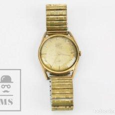 Relojes de pulsera: RELOJ DE PULSERA MASCULINO CHAPADO EN ORO - DUWARD DIPLOMATIC, 21 RUBÍS - PIEZAS O RESTAURACIÓN. Lote 130680134