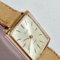 Relojes de pulsera: VINTAGE SANDOZ A CUERDA CAL. AS1200 - 29X29 M/M. CAJA CHAPADA EN ORO , PULSERA NUEVA .. Lote 130705724