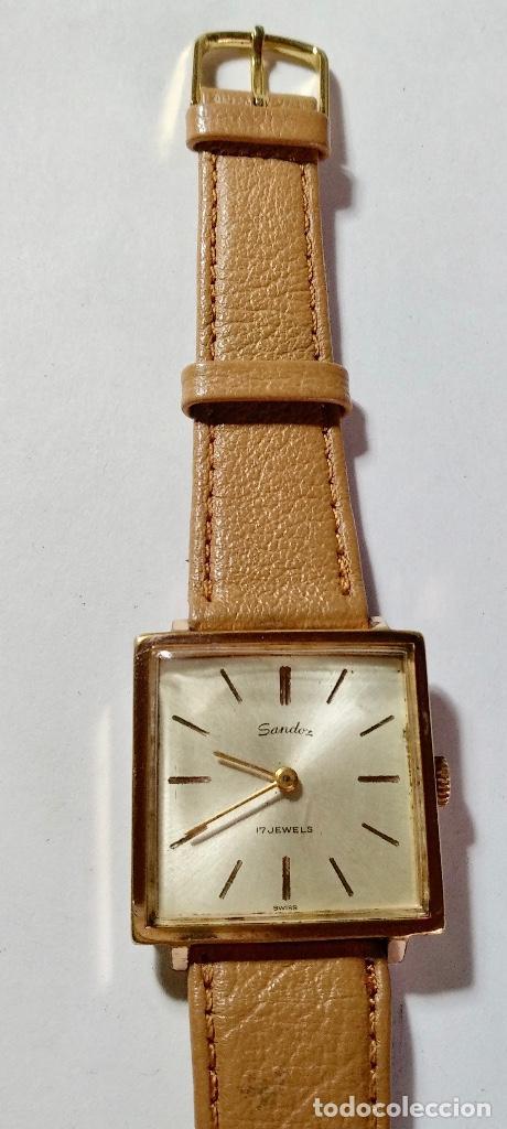 Relojes de pulsera: VINTAGE SANDOZ A CUERDA CAL. AS1200 - 29X29 M/M. CAJA CHAPADA EN ORO , PULSERA NUEVA . - Foto 2 - 130705724