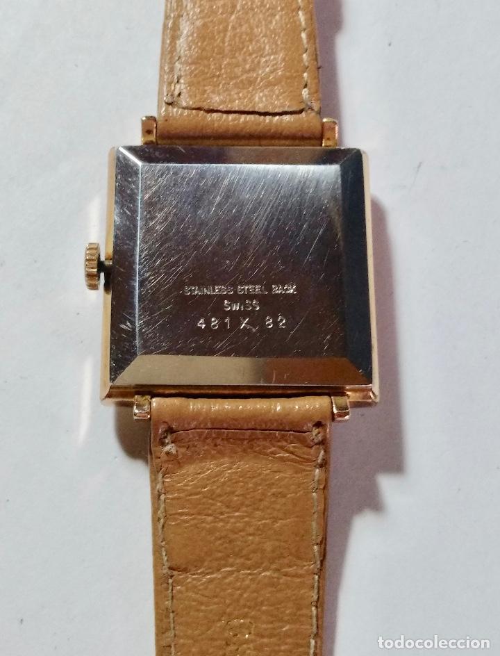 Relojes de pulsera: VINTAGE SANDOZ A CUERDA CAL. AS1200 - 29X29 M/M. CAJA CHAPADA EN ORO , PULSERA NUEVA . - Foto 3 - 130705724