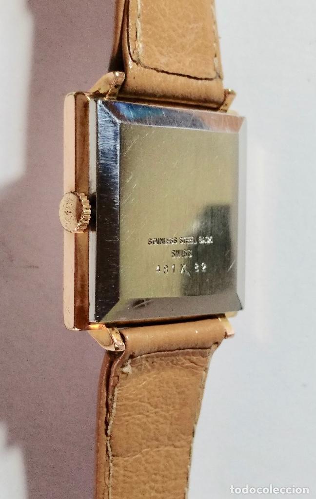 Relojes de pulsera: VINTAGE SANDOZ A CUERDA CAL. AS1200 - 29X29 M/M. CAJA CHAPADA EN ORO , PULSERA NUEVA . - Foto 5 - 130705724