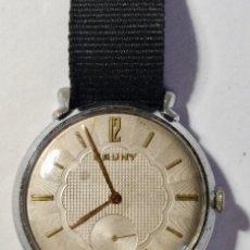 Relojes de pulsera: RELOJ VINTAGE:MECANISMO DUWARD AS 1130,CAJA DUWARD,ESFERA CAUNY,TAPA DOGMA.MEDIDA DE LA CAJA 39 M/MØ. Lote 130720049