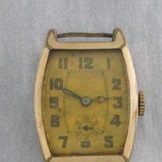 Relojes de pulsera: ANTIGUO RELOJ DE CUERDA BAÑADO EN ORO, HOMBRE, 28 X 36 MM, NO FUNCIONA.. Lote 130724844