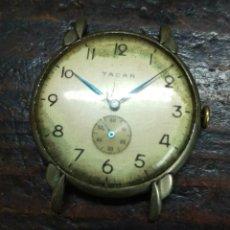 Relojes de pulsera: RELOJ A CUERDA VINTAGE TACAR SWISS MADE , SUIZO LEER. Lote 130861571