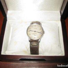 Relojes de pulsera: RELOJ ANTIGUO DOGMA FUNCIONANDO TAMAÑO ESFERA 34 MM CON SU CAJA DE MADERA. Lote 130871648