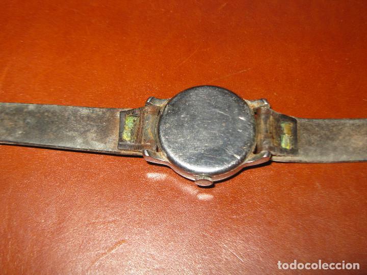 Relojes de pulsera: reloj antiguo dogma funcionando tamaño esfera 34 mm con su caja de madera - Foto 3 - 130871648
