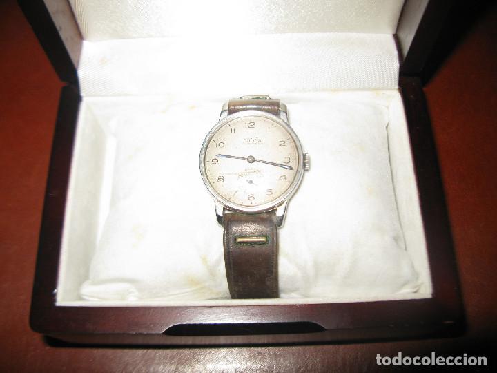 Relojes de pulsera: reloj antiguo dogma funcionando tamaño esfera 34 mm con su caja de madera - Foto 4 - 130871648