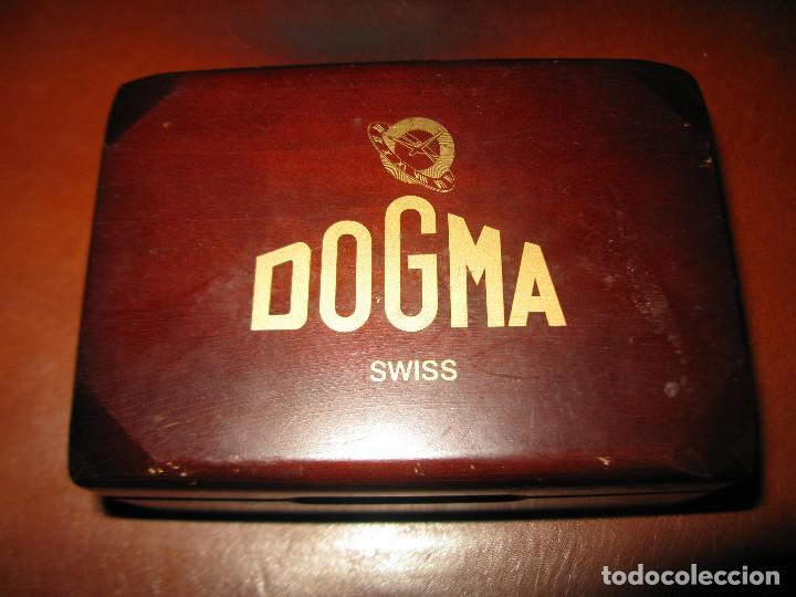 Relojes de pulsera: reloj antiguo dogma funcionando tamaño esfera 34 mm con su caja de madera - Foto 5 - 130871648