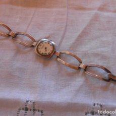 Relojes de pulsera: RELOJ DE PULSERA DE PLATA -EXACTUS 17 JEWELS INCABLOC -CARGA MANUAL. Lote 130929764