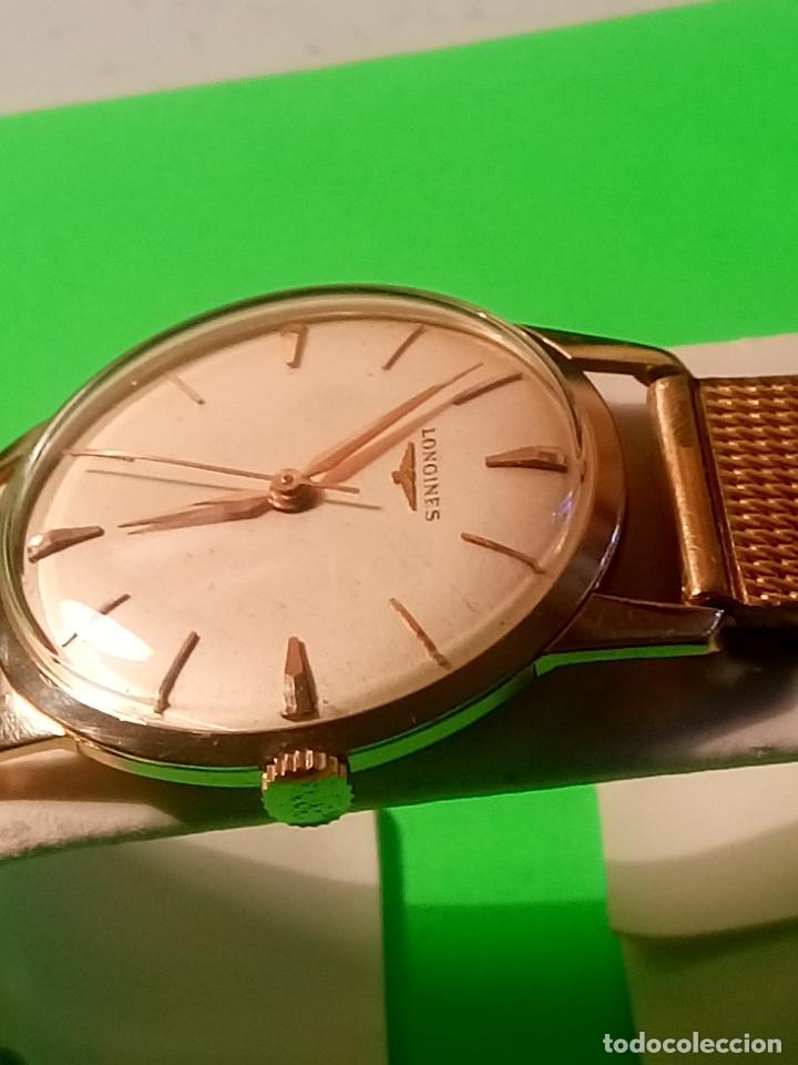 Relojes de pulsera: LONGINES DE ORO. CUERDA MANUAL. 1.964 (((( IMPECABLE )))) ORO DE 18 KT. 0,750 MILS. FOTOS Y DESCRIPC - Foto 4 - 130963928