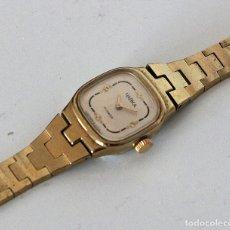 Relojes de pulsera: RELOJ RUSO SOVIÉTICO USSR DE CUERDA CHAPADO EN ORO MUJER. Lote 131024456