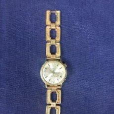 Relojes de pulsera: RELOJ PULSERA SPENDID ALARM 17 JEWELS SHOCKPROTECTED SWISS PULSERA CHAPADO ORO 35MM. Lote 131569170