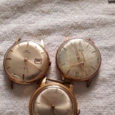 Relojes de pulsera: LOTE DE 3 RELOJES DE PULSERA CABALLERO, PARA PIEZAS, VER DESCRIPCION Y FOTOS. Lote 131612762