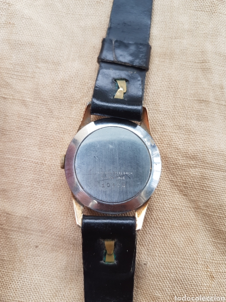Relojes de pulsera: Antiguo reloj pulsera suizo amper 17 rubis funciona - Foto 2 - 131740869