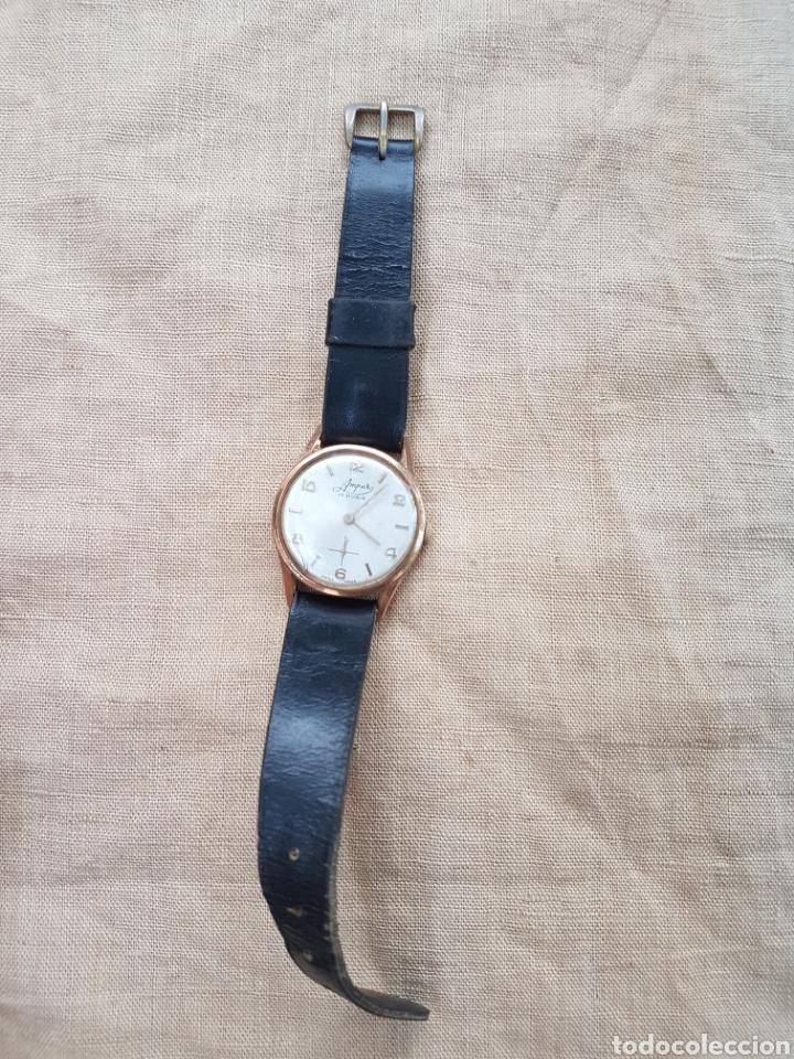 Relojes de pulsera: Antiguo reloj pulsera suizo amper 17 rubis funciona - Foto 3 - 131740869