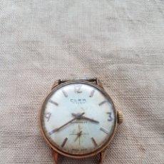 Relojes de pulsera: ANTIGUO RELOJ PULSERA SUIZO CLER 17 RUBIS FUNCIONA. Lote 131741250