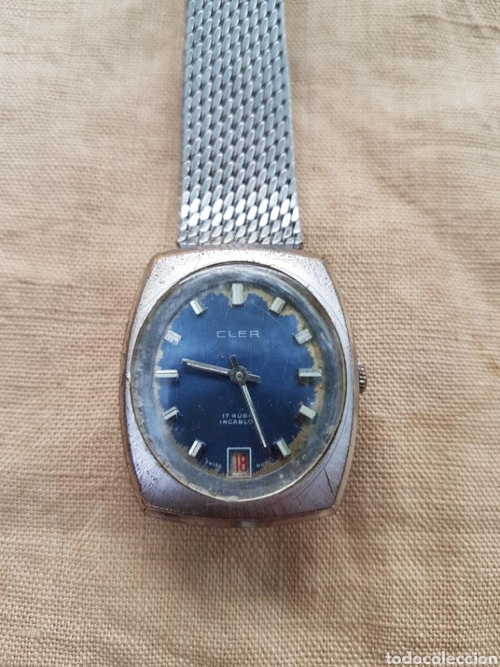 Relojes de pulsera: Antiguo reloj vintage suizo cler 17 rubis funciona - Foto 2 - 131741415