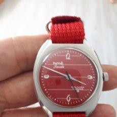 Relojes de pulsera: ANTIGUO RELOJ HMT JANATA ROJO COMO NUEVO... Lote 131790566