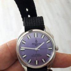 Relojes de pulsera: ANTIGUO RELOJ HENRI SANDOZ DEPORTIVO COMO NUEVO... Lote 131794238