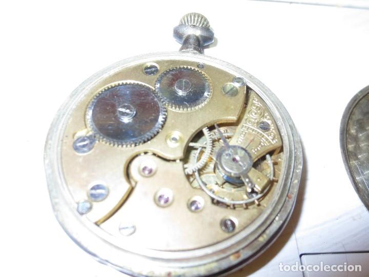 Relojes de pulsera: SABONETA RELOJ UNIVERSAL ANTIGUO PLATA SIGLO XIX DE PLATA 0`800 FUNCIONA FALTA CRISTAL Y AGUJAS - Foto 13 - 106658975