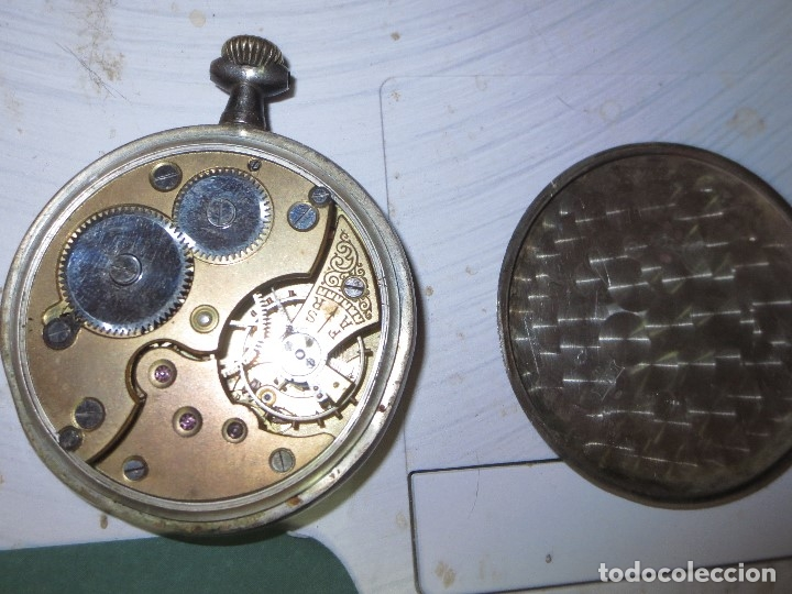 Relojes de pulsera: SABONETA RELOJ UNIVERSAL ANTIGUO PLATA SIGLO XIX DE PLATA 0`800 FUNCIONA FALTA CRISTAL Y AGUJAS - Foto 14 - 106658975