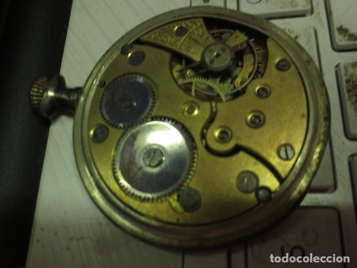 Relojes de pulsera: SABONETA RELOJ UNIVERSAL ANTIGUO PLATA SIGLO XIX DE PLATA 0`800 FUNCIONA FALTA CRISTAL Y AGUJAS - Foto 22 - 106658975