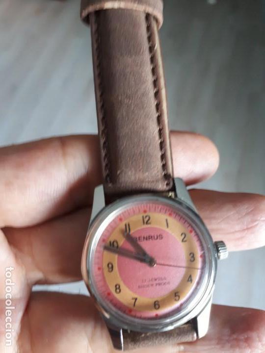 RELOJ BENRUS SUIZO AÑOS 70 CLASICO VINTAGE COMO NUEVO. (Relojes - Pulsera Carga Manual)