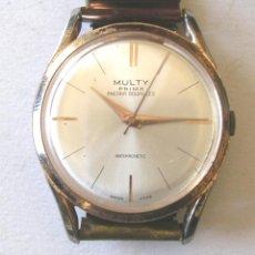Relojes de pulsera: RELOJ PULSERA CABALLERO MULTY PRIMA ANCORA GOUPILLES SUIZO, FUNCIONA, COMPLETO. MED. 35 MM. Lote 132257294